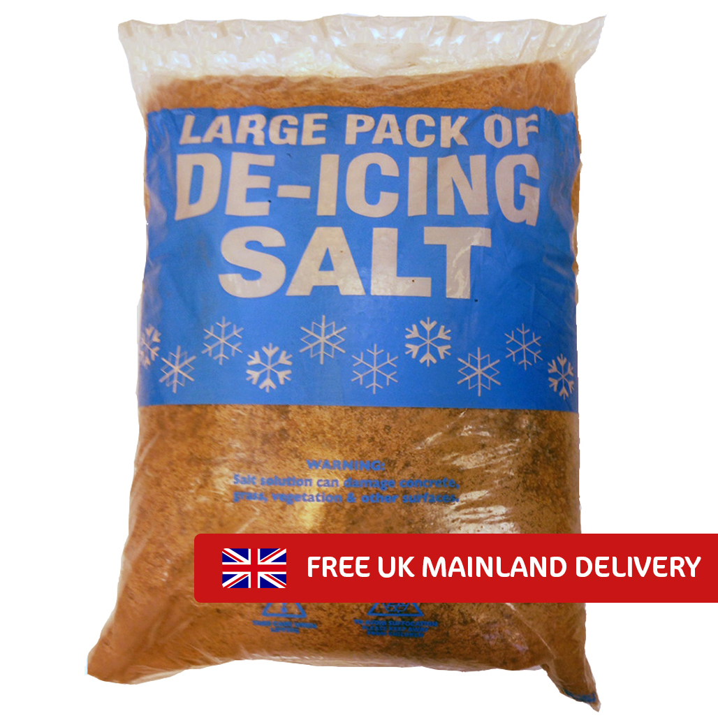 Brown Deicing Rock Salt 25kg x 49 bags