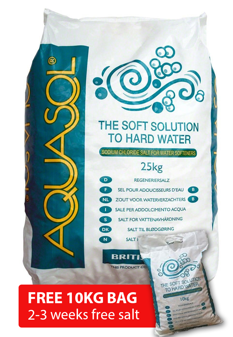 Aquasol Salt Tablets 25kg x 10 bags  + FREE 10KG BAG