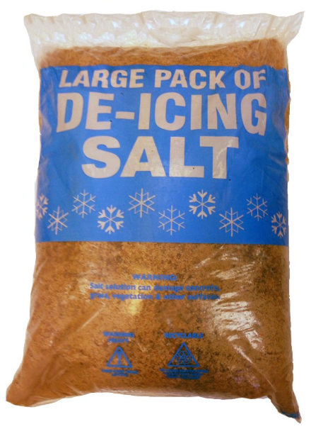 Brown De-icing Rock Salt 25kg x 5 bags