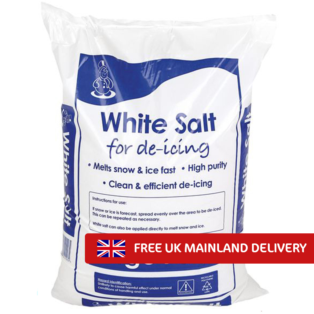 White Deicing Rock Salt 25kg x 40 bags